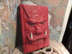 Mythical Beast Book (Red  leather with Gold eyes and Tusks)