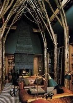 Simple and Creative Tips Can Change Your Life: Attic Lighting Basements attic library layout.Attic Ideas For Kids attic studio pictures. Home Library Design, Attic Library, Attic Design, Dream Library, Attic Office, Library Ideas, House Design, Tree Interior, Home Interior Design