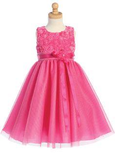 Fuschia Easter Dress for Girls - 6months - Size 12