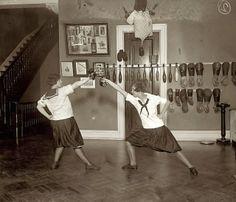 """May 14, 1925. Washington, D.C. """"Western High School fencing team."""""""