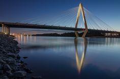 The Christopher S. Bond Bridge in Kansas City, Missouri.