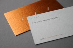 Hot foil and letterpress business cards | Blush letterpress printers uk