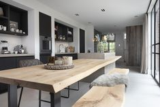 Dinning Table, Dining Area, Kitchen Dining, Kitchen Decor, Kitchen Room Design, Modern Kitchen Design, Kitchen Interior, Open Plan Kitchen Diner, Solid Wood Kitchens