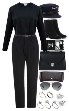 """""""Untitled #9585"""" by nikka-phillips ❤ liked on Polyvore featuring Yves Saint Laurent, The Cambridge Satchel Company, H&M, Coach, ASOS and Georgini"""