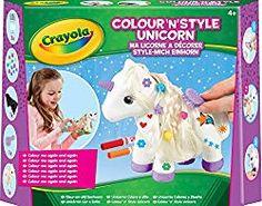 Crayola Colour n Style Unicorn Craft Kit with Washable Felt Tip Colouring Pens Kids Craft Sets, Crafts For Kids, Crayola, R Colors, Unicorn Crafts, Unicorn Kids, Color Kit, Craft Kits, My Little Pony