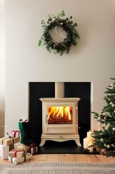 Beaumont Stove #festive #stoves #christmas #decorations #interiors #keepwarm #heat #winterwarmth #christmastree #christmasdecorations