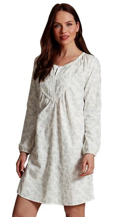 MARKS & SPENCER COLLECTION Pure Cotton Shadow Print Nightshirt.  UK20 EUR48 & UK22 EUR50  MRRP: £20.00GBP - AVI Price: £9.99GBP
