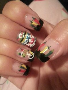 Cinco de mayo nails.....chili peppers