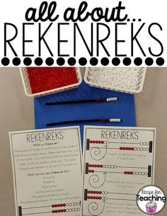 FREE informational printable to share with families about Rekenreks!
