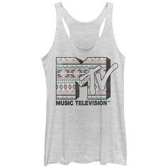 MTV Women's - Tribal Print Logo Racerback Tank #fifthsun #mtv
