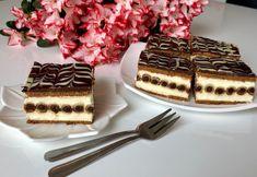 Rurociąg- pyszne ciasto bez pieczenia! Łatwe w przygotowaniu i bardzo smaczne, kremowe ciasto z rurkami, które nie wymaga pieczenia. Do jego wykonania użyłam blaszki o wymiarach 24×24 cm. Ciasto zawsze należy zrobić dzień wcześniej przed podaniem, ponieważ wówczas rurki zmiękną i nie ma żadnego problemu z krojeniem. Polecam!  Przepis autorski.   Składniki: ok …