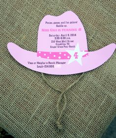 cowgirl or pony party invite