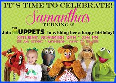 Personalized The Muppets Photo Birthday Party Invite Invitation DIY Print | eBay