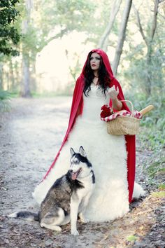 """red riding hood and the big """"bad"""" wolf :)"""