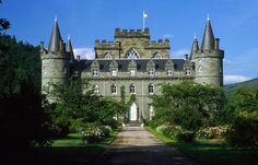 Photo tour: Beautiful castles in Scotland Downton Abbey Set, Hermitage Castle, Scotland Top, Castle Scotland, Inveraray Castle, Modern Castle, Loch Fyne, Tower House, Scottish Castles