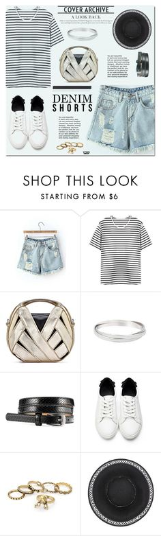 """yoins"" by yoinscollection ❤ liked on Polyvore featuring jeanshorts, denimshorts and cutoffs"