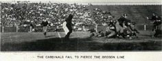 1920 Oregon-Stanford football game.  From the 1921 Oregana (UO yearbook).  www.CampusAttic.com