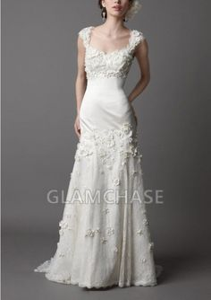 Appliques Jewel White Sweep Train Sleeveless Buttons Mermaid Dresses