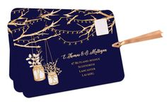 Wedding Invitation Winter wedding invitation by PaperWillowDesign