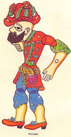 "Karagöz-Hacivat oyunu ana karakteri ""Karagöz"". Young Teacher Outfits, Winter Teacher Outfits, Turkish Design, Turkish Tiles, Shadow Play, Shadow Puppets, James Bond, Storytelling, Drama"