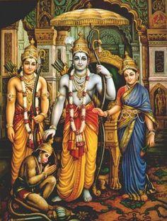 Rama, Sita, Lakshmi & Hanuman