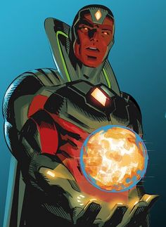 Marvel Comics: Vision of the Mighty Avengers.<<< not sure if this is official or fanart, but it looks cool! All credits to the artist Marvel And Dc Characters, Comic Book Characters, Comic Book Heroes, Comic Character, Comic Books Art, Comic Art, Heros Comics, Marvel Comics Art, Fun Comics