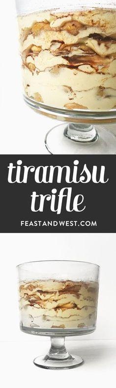 Trifle Tiramisu Trifle is a party dessert that makes a statement! (via )Tiramisu Trifle is a party dessert that makes a statement! Dessert Party, Dessert Oreo, Trifle Desserts, Party Desserts, Holiday Desserts, Just Desserts, Delicious Desserts, Yummy Food, Pumpkin Dessert