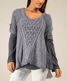 Look what I found on #zulily! Blue Sarah Sweater #zulilyfinds