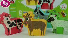 Vilac, klocki śmieszne zwierzęta z farmy od 2 lat - Unboxing