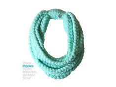 Schal happy & warm (türkis) von HIPPIE LOVE band of peace auf DaWanda.com