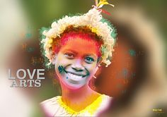 New Ireland Dancer-Papua New Guinea. Nerius Toule Graphics Arts, Design, Typography.
