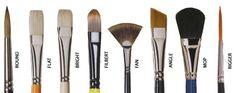 Selección de pinceles de bellas artes y cómo limpiarlos bien  Pinceles de arte