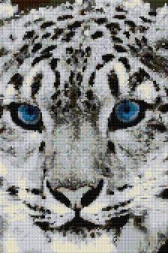 Free pdf Cross Stitch | Snow Leopard xstitch Chart | Design
