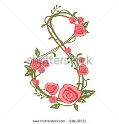 International Women'S Day On March, 8th Greeting Background With Cherry Petal Number 8 Stock Vector Illustration 249137686 : Shutterstock