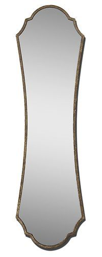 Rectangular Frame Wall Mirror Curved Arched Gold Bronze Retro Glamorous Vanity | eBay