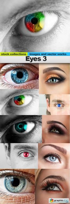 Eyes 3 10 x UHQ JPEG  stock images