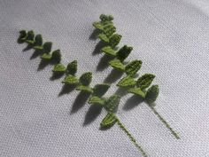 Chiffon and Porcelain: Fern and Embroidery