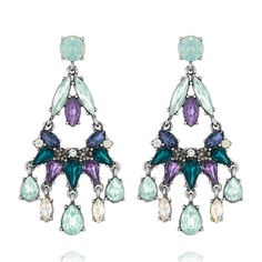 Midnight Reverie Chandelier Earrings $58 #Freeshipping for all $100 + orders. #freestuds for all $125+ orders. Shop online 24/7 at my online boutique NOW  https://www.chloeandisabel.com/boutique/ursulaball#21042  #candiholiday #Holidays2014 #Christmas #shopping #blackfriday #perfectgift #earrings #statement #chandelier