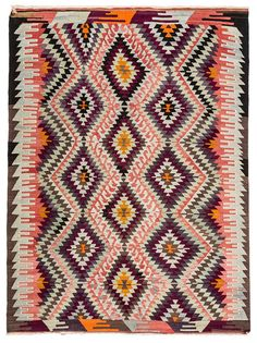 A nice living room rug with a 8 by 6 feet size. This Decorative Vintage Kilim Rug can be used under table in dining room or in living room between sofas. Room Rugs, Rugs In Living Room, Turkish Kilim Rugs, Vintage Rugs, Bohemian Rug, Wool, Home Decor, Black, Bedroom Rugs
