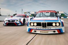 The heritage livery looks incredible on the Team Rahal-Letterman-Lanigan GTLM cars that will race in the 2015 12 Hours of Sebring in just a few days. The cars were unveiled at the Amelia Island Concours d'Elegance this weekend. Bmw Z4, Bavarian Motor Works, Bentley Mulsanne, Bmw Love, Kia Optima, Bmw Cars, Motor Car, Race Cars, Old School