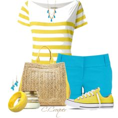 Colored Short & Striped T