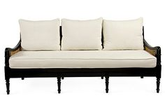 Black Lacquer Indochine Sofa on OneKingsLane.com, simply Div-ine