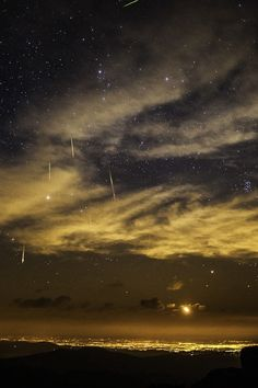 Perseid Meteor Shower over Denver Colorado