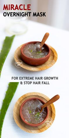 MIRACLE OVERNIGHT HAIR MASK - LITTLE DIY - Stunted hair growth is common these days especially if you stay near MIDC areas that have lot of pollution. Clogged hair follicles, stress, frequent hair styling, nutrient-deficient diet etc. Best Natural Hair Products, Natural Hair Care, Natural Hair Styles, Overnight Hair Mask, Extreme Hair Growth, Overnight Hairstyles, Aloe Vera For Hair, Diy Hair Mask, Healthy Hair Tips