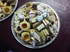Christmas 2013 Cakes which feature: * Chocolate Waffers * Jam Thumbprints * Almond Cresents * Walnut Pastries * Lemon & Rosehip Jam Waffers * Mini Meringues
