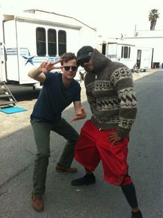 Matthew Gray Gubler & Shemar Moore......i don't even understand this picture but it's sooo funny!!