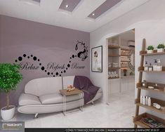 Khách hàng đi qua sẽ bị hút hồn ngay bởi ánh sáng nổi bật và không gian đẹp mắt nơi đây. Việc lựa chọn gam màu tím mộng mơ tạo hiệu ứng thị giác rất tốt cho thiết kế spa đẹp. #saokimdecor #thiếtkế #thietke #spagreen #thietkenoithat #thicongnoithat #noithat #nộithất #phongkhach #thietkephongkhach #spa #thietkespa #interior #apartment #apartmentdecor #designinterior #spadecor #designspa Design Shop, Home Decor, Decoration Home, Room Decor, Home Interior Design, Home Decoration, Interior Design