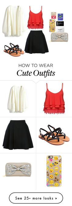 """""""Cute outfit for shopping with my friends"""" by jenniferr23 on Polyvore featuring moda, Avelon, Volant, Betsey Johnson, Casetify, Forever 21, Sephora Collection, Hollister Co. y American Eagle Outfitters"""