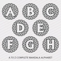 Circle Monogram Alphabet Ready To Cut Svg Dxf Eps
