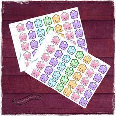 Sticker pretagliati controllo del peso, kawaii
